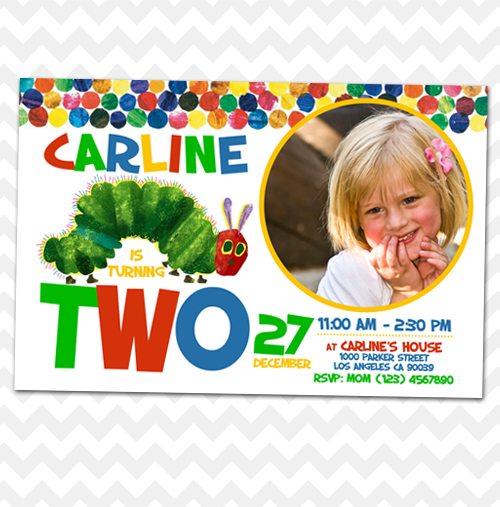 ithinkparty Hungry Caterpillar Invitation Birthday Online Store