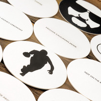 The Big Lebowski Letterpressed Paper Drink Coasters  - Thumbnail 3