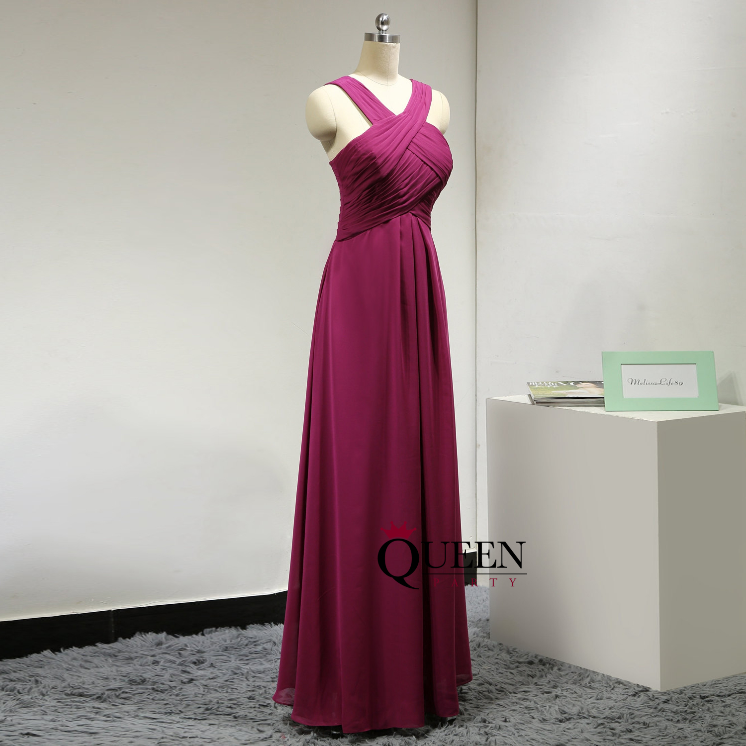 Burgundy chiffon cross halter long bridesmaid dresses full length burgundy chiffon cross halter long bridesmaid dresses full length prom dress with ruched bust ombrellifo Gallery