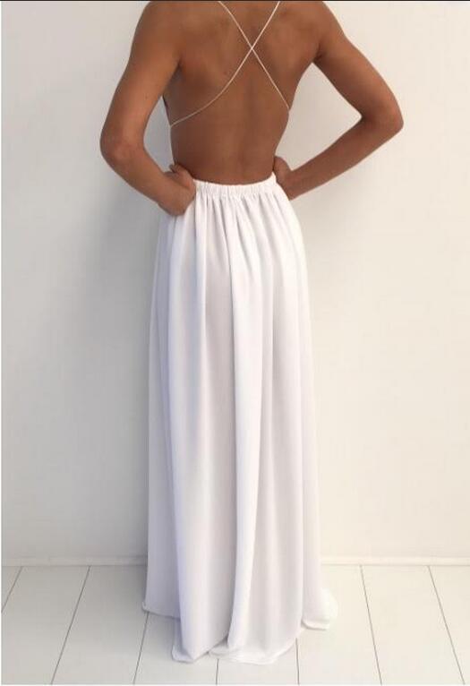 Simple White Prom Dresses