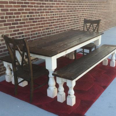 farmhouse dining table made in usa. talbot dining table, farmhouse, reclaimed wood, custom, handcrafted, handmade, made farmhouse table in usa n