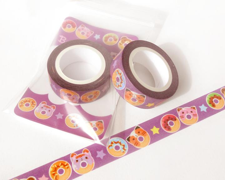 Donut washi tape planner decoration kawaii washi tape cute washi tape mas - Decoration masking tape ...