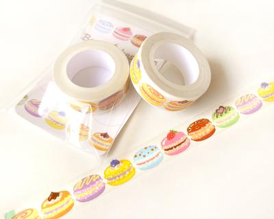 Macaron washi tape kawaii food washi tape scrapbook decoration kawaii mask - Decoration masking tape ...