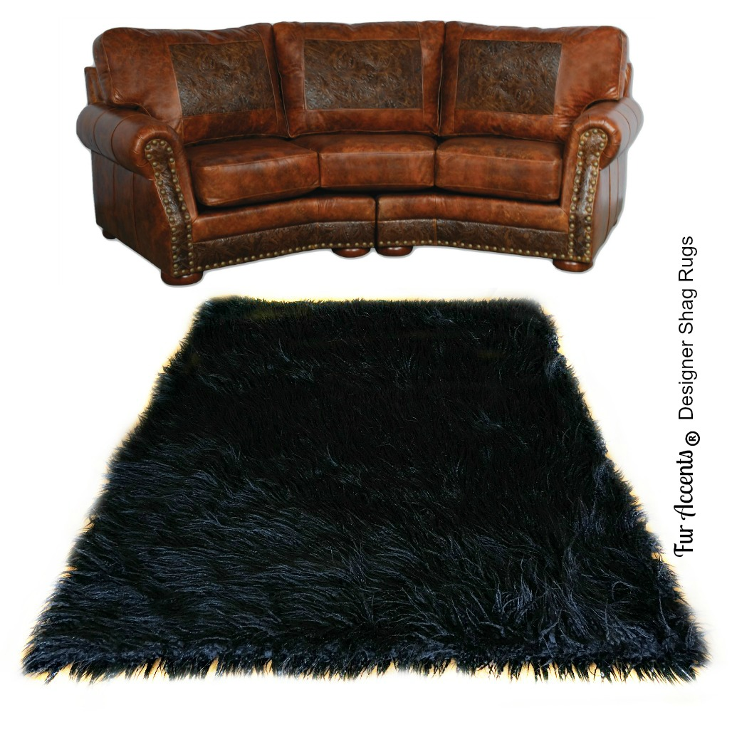 Premium Faux Fur Accent Rug