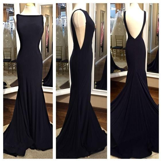 Little Black Backless Cocktail Dress