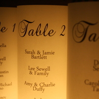 Seating Chart - Escort Table Luminarias - Thumbnail 1