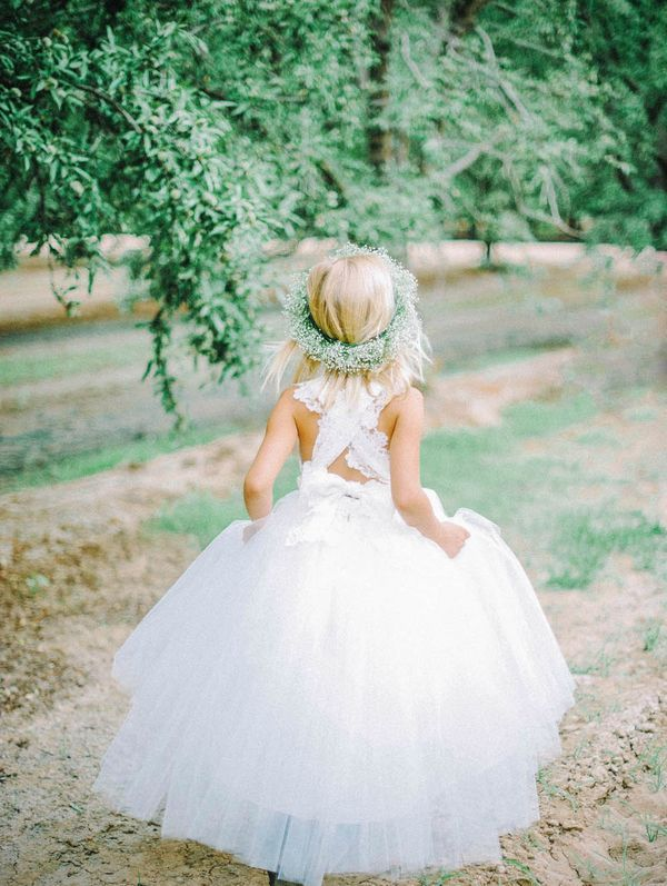 Cute a line long white tulle flower girl dress with ribbon modsele cute a line long white tulle flower girl dress with ribbon mightylinksfo