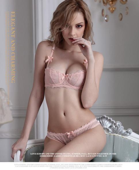 8f35b2935eff5 Free Shipping - Sexy Lace Motif Pink Bra   Panty Set on Storenvy