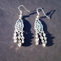"1"" Metallic dangle earrings"