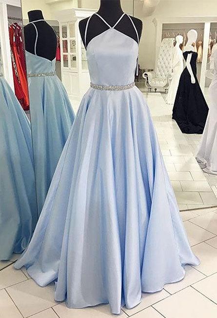Dress Day Cute Blue Long Prom Dress Blue Long Formal