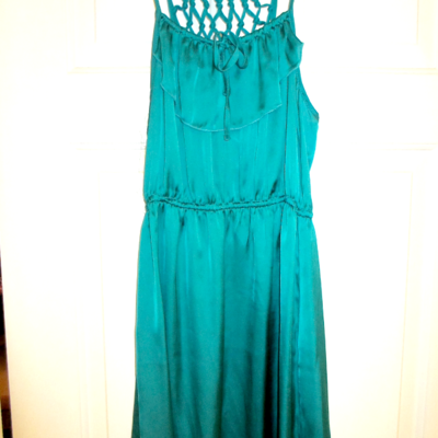 Jade silk dress