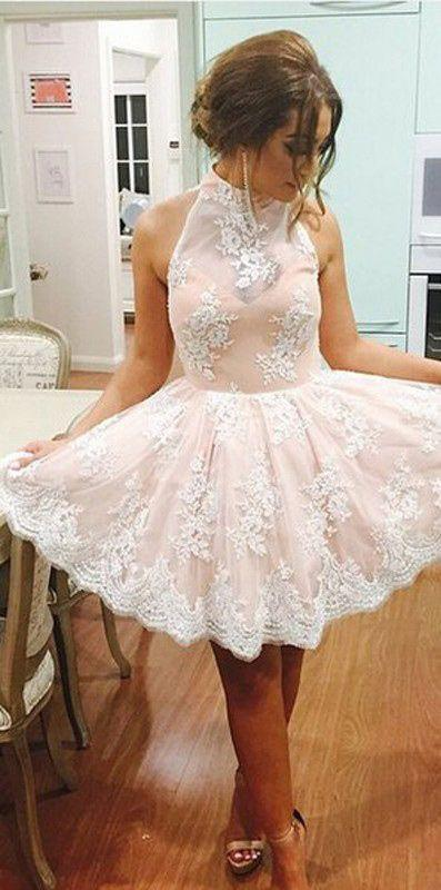 short homecoming dress,lace Prom Dress,cute prom dress,party dress ...