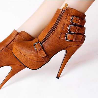 Botines tacon / ankle boots wh794