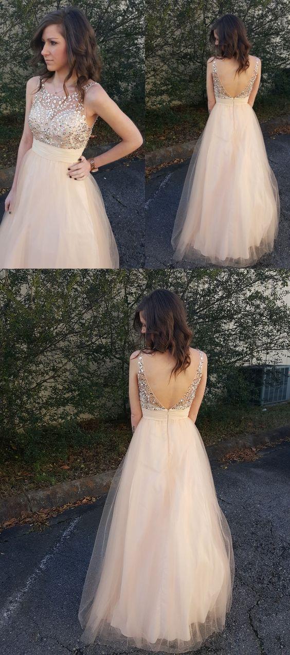 Light Champagne Prom Dresses