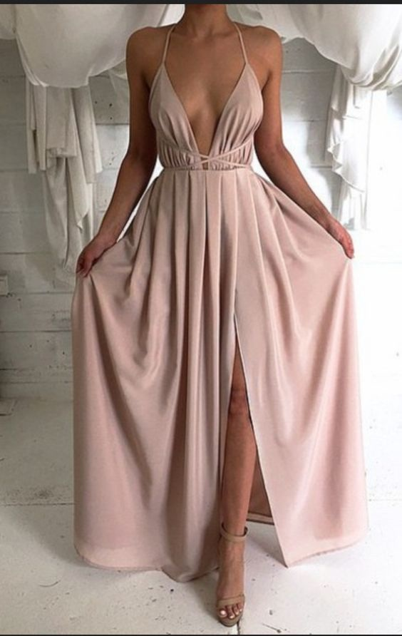 Pink Cheap Prom Gowns