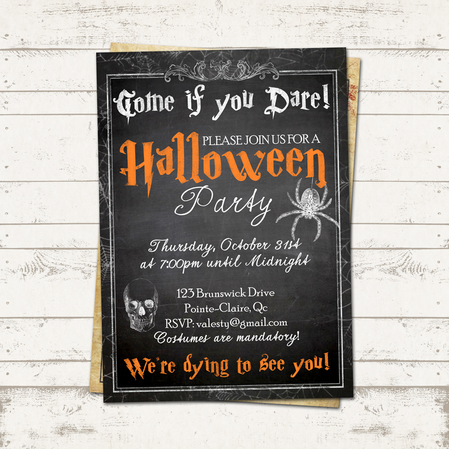 Valerie Pullam Designs | Halloween Party Invitation - Creepy ...