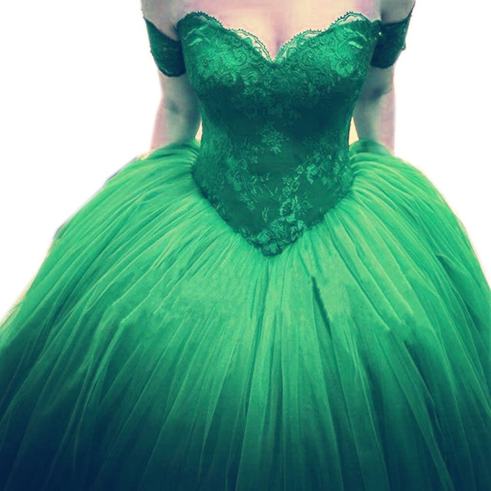 New Arrival Prom Dress,Modest Prom Dress,green lace sweetheart ball ...