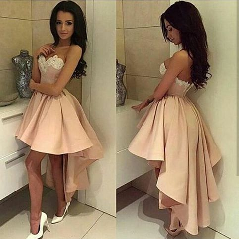 Cute A Line High Low Lace Prom Dressformal Dresses Dream Prom