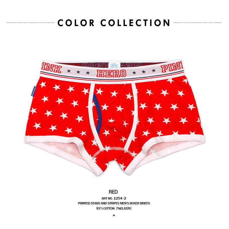 4pk sale pink hero stars n stripes patriot boxer pocket cup sexy underwear briefs gay