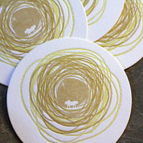 Letterpress Coasters: Nativity s/10