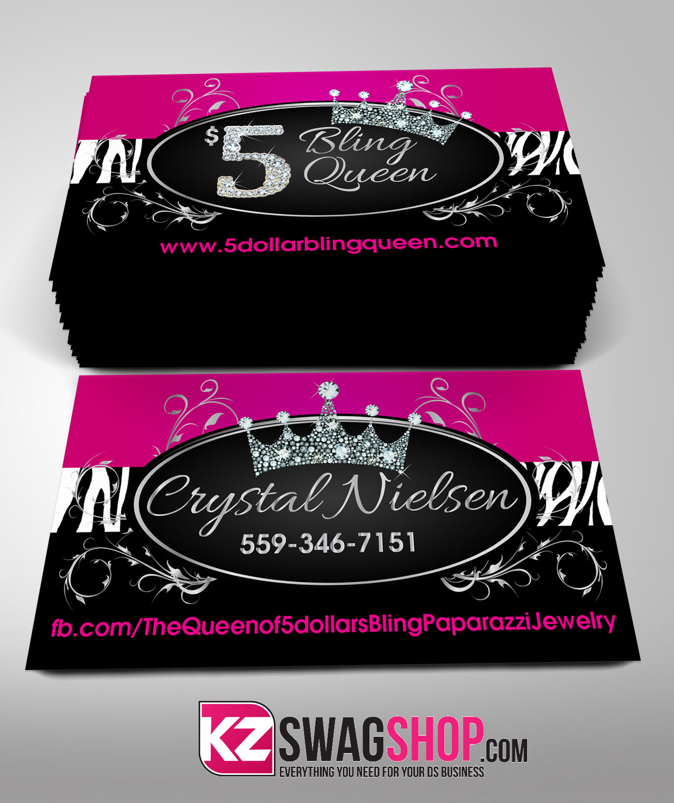 Paparazzi Business Cards style 6 · KZ Creative Services · line