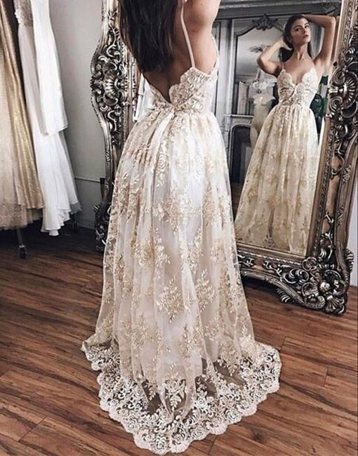 Spaghetti Strap Prom Dress