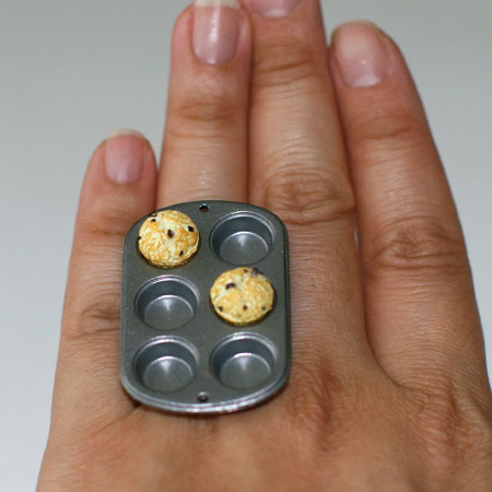 Kawaii Cute Japanese Ring Only 2 Muffins In Baking Pan