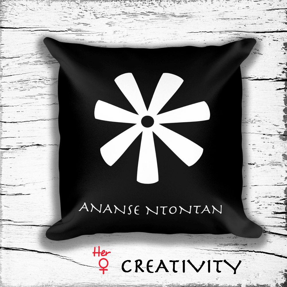 Square Pillow With Woman Empowerment Symbols Symbol Of Creativity