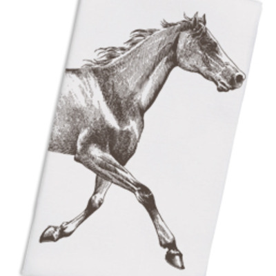 Floursack towel- brown horse