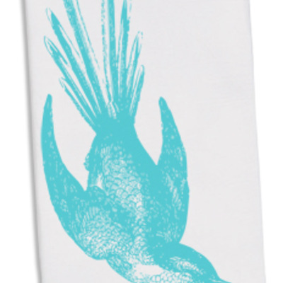 Floursack towel- blue swallow