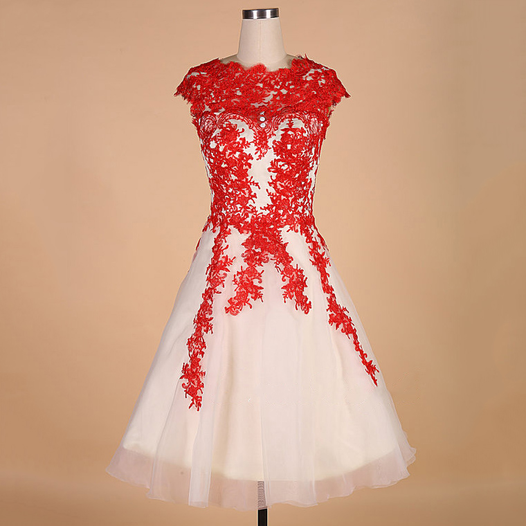Red Homecoming Dress,Short Party Dress,Lace Formal Dress,Cute Summer ...