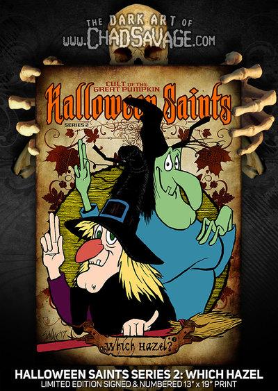 Halloween Saints Series 2 Which Hazel Art Print Color Or Black White