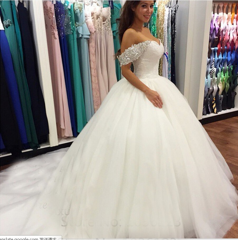 Princess Wedding Dresses With Long Train,Dresses For Brides,Bridal ...