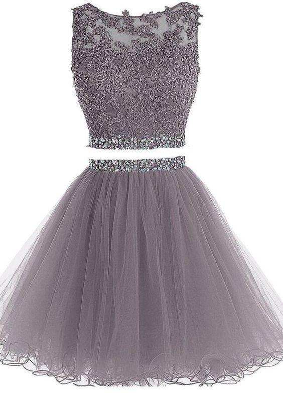 2 Piece Short Prom Dresses