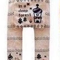 Baby Legging Pants in Pink and Black Princess Design