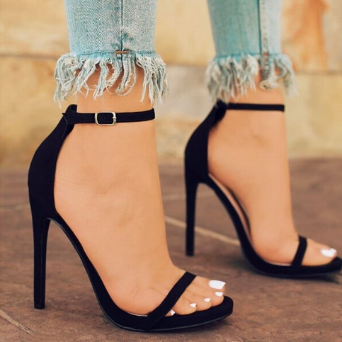 women's sexy simple high heels fashion solid color summer