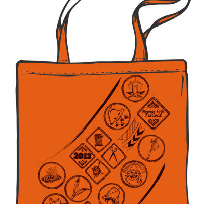 Burnt orange strange folk 2013 tote bag