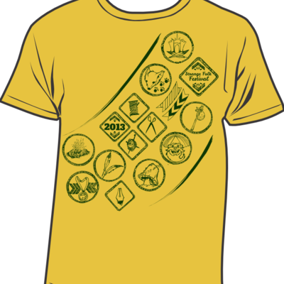 Maize yellow strange folk 2013 t-shirt