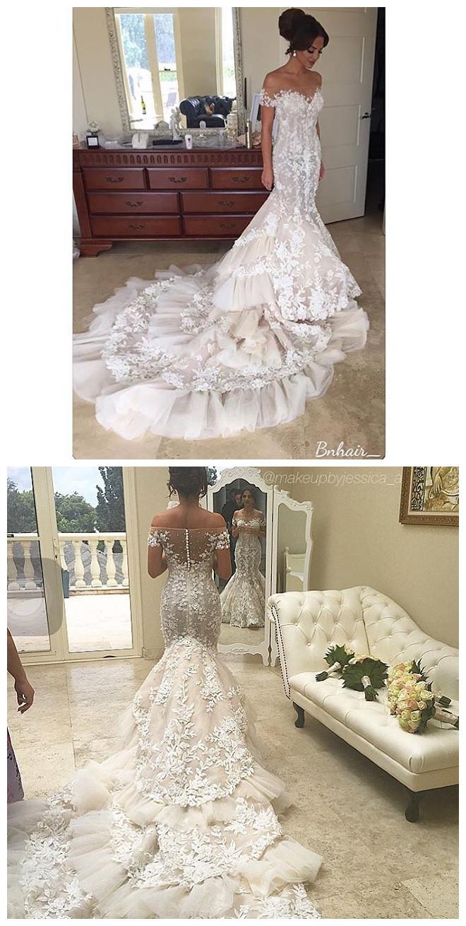 Luxury Mermaid Gelinlik Lace Wedding Dresses robe de mariage ...