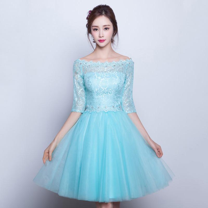 Pretty Short Homecoming Dresses, A-line Scoop Neck Prom Dresses ...