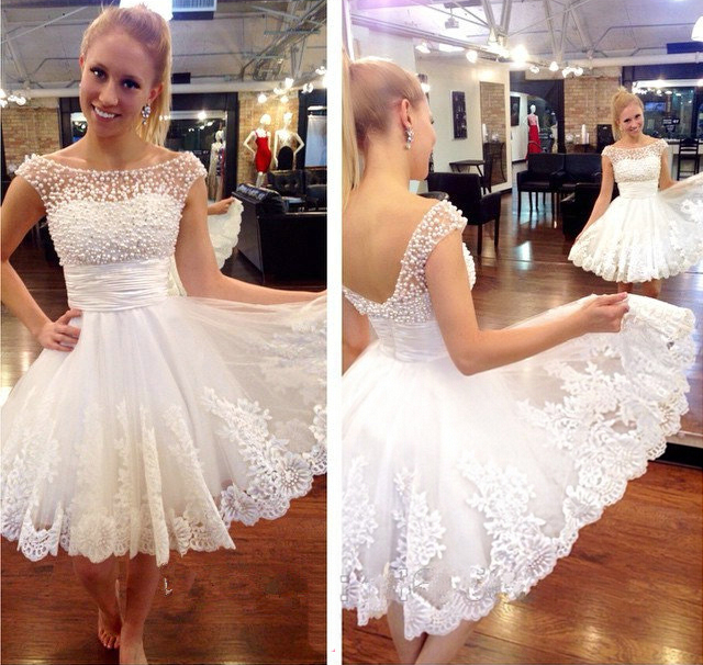 White homecoming dresses, short homecoming dresses, cute homecoming ...