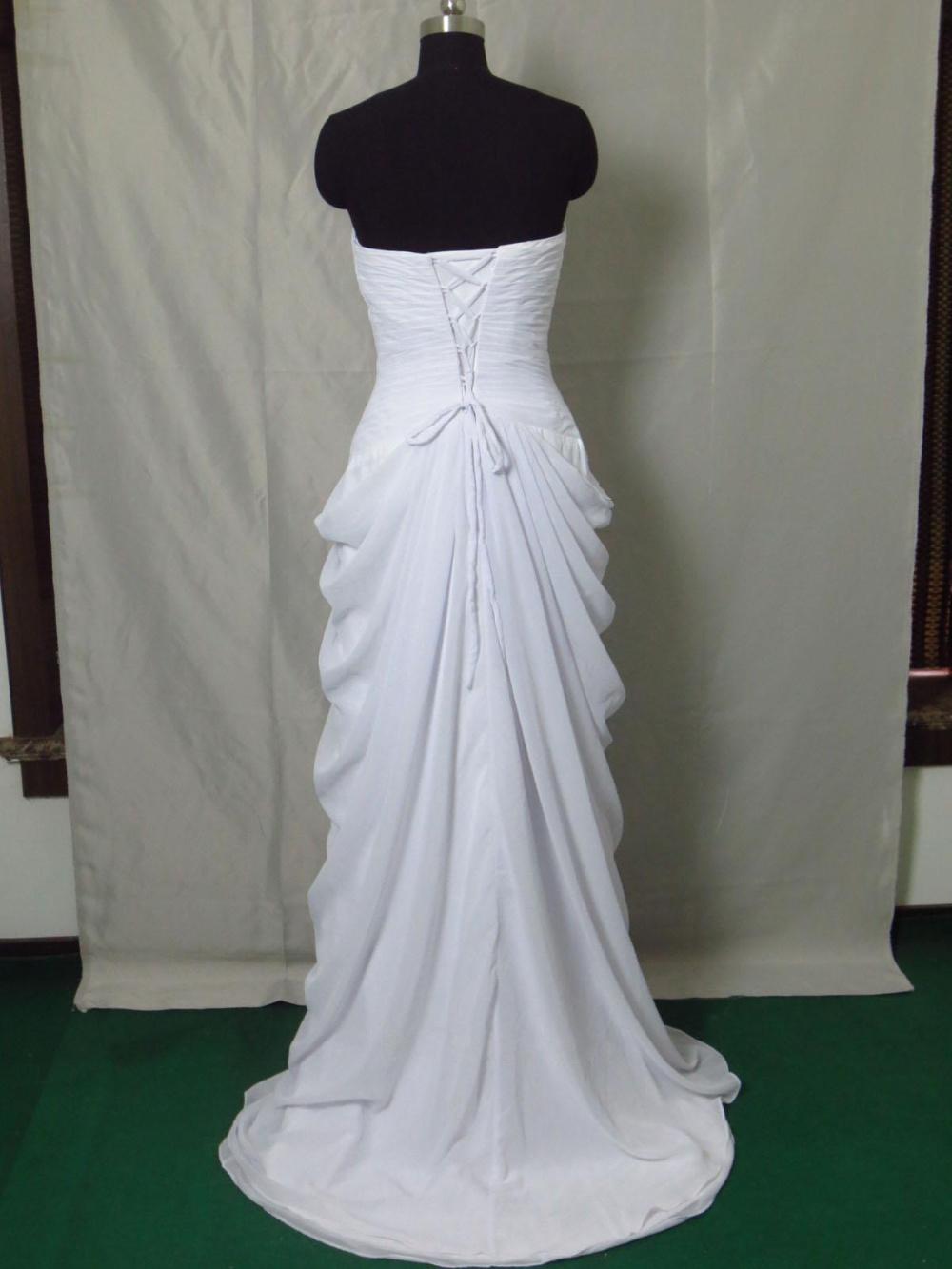 Long White Beaded Wedding Dresses,Prom Evening Dresses 102088 ...