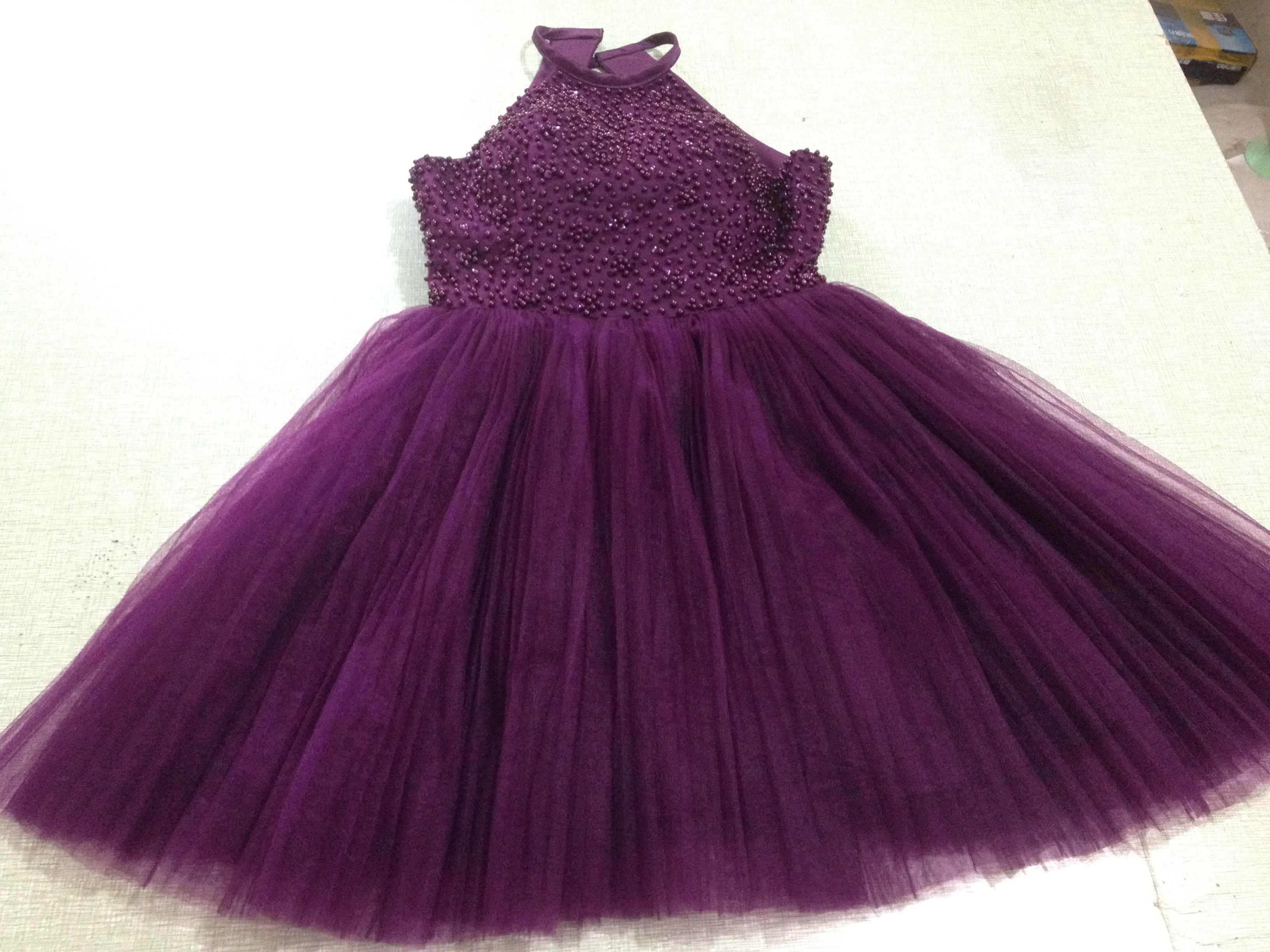 Sexy Purple Short Beading Backless Halter Homecoming Dresses ...