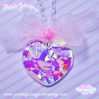 Crystalline Heart Necklace- ♡1