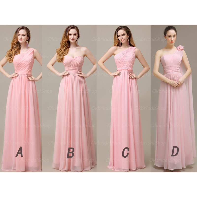 J196 Pink Bridesmaid Dresses, Cheap bridesmaid dress, prom dress ...