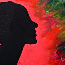 """Profile in Silhouette"" Painting by Kimberly's Mom"
