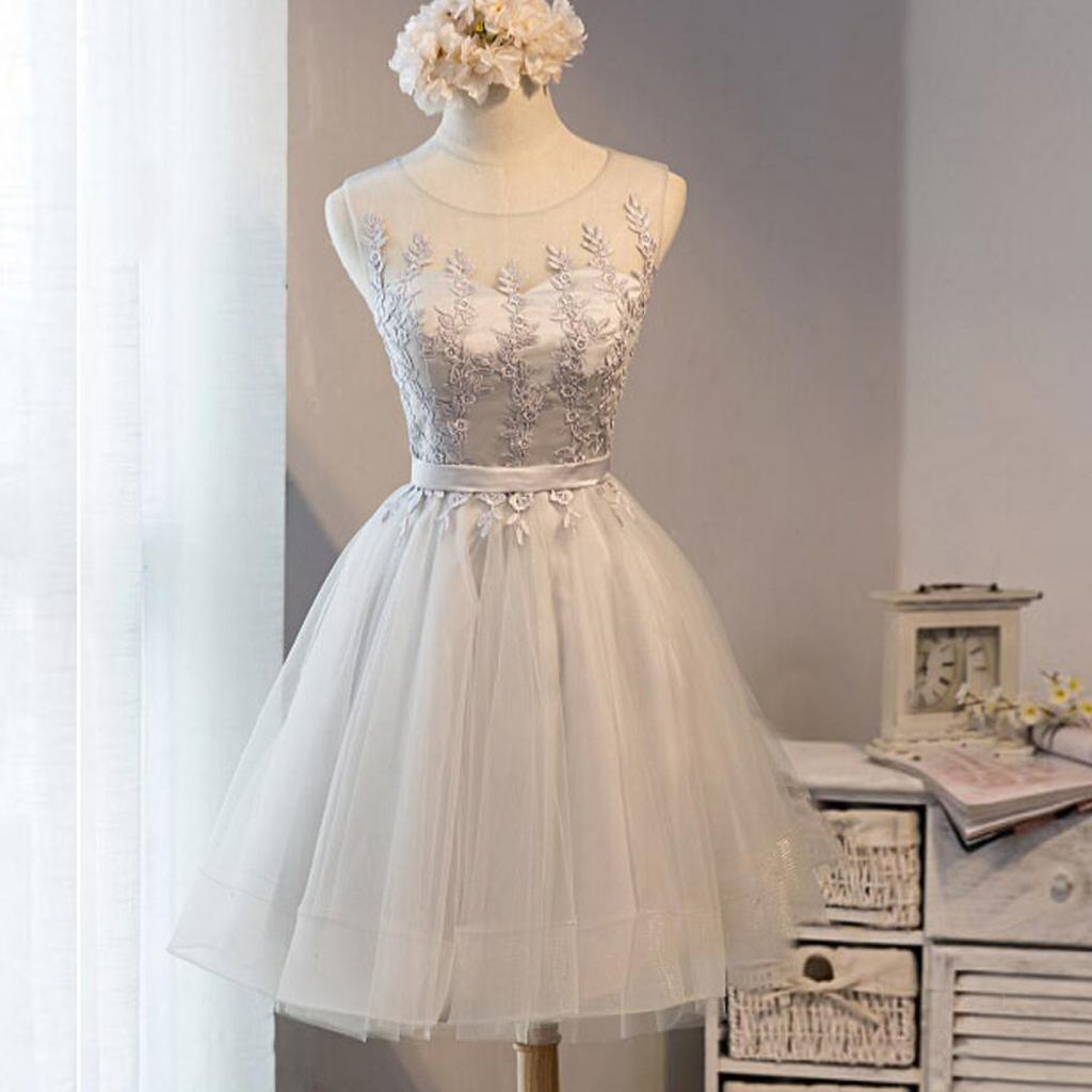 Lace Appliques Homecoming Dressshort A Line Homecoming Dresseslace