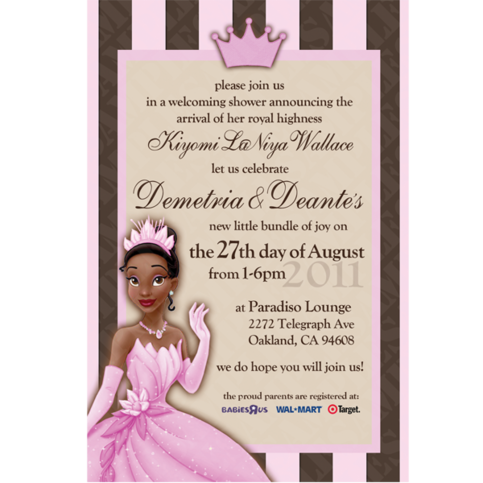 24 5 designs princess the frog invitation 4x6 online store