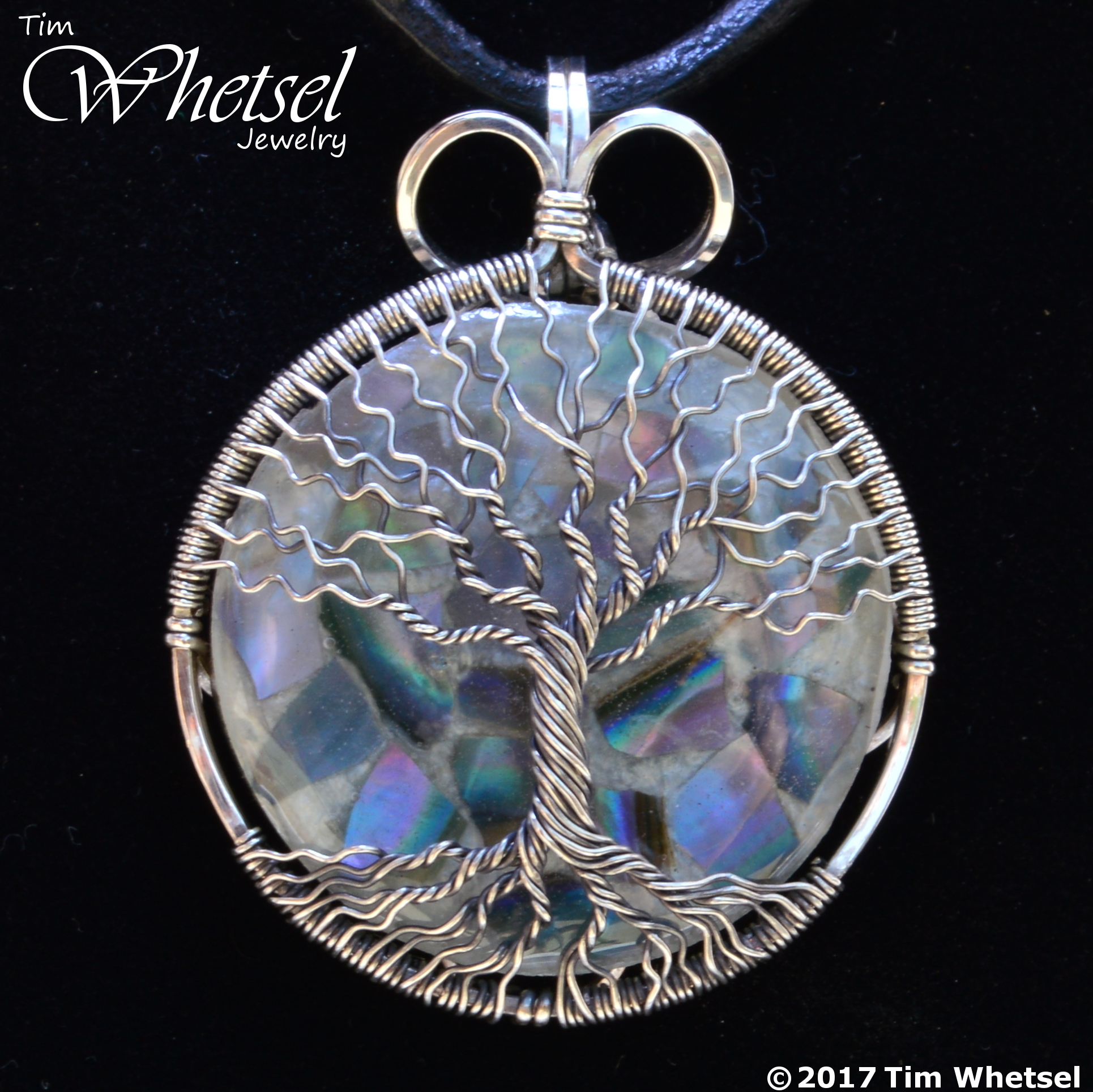 Mother of Pearl Orgone(White) - Tree of Life Necklace Pendant ...