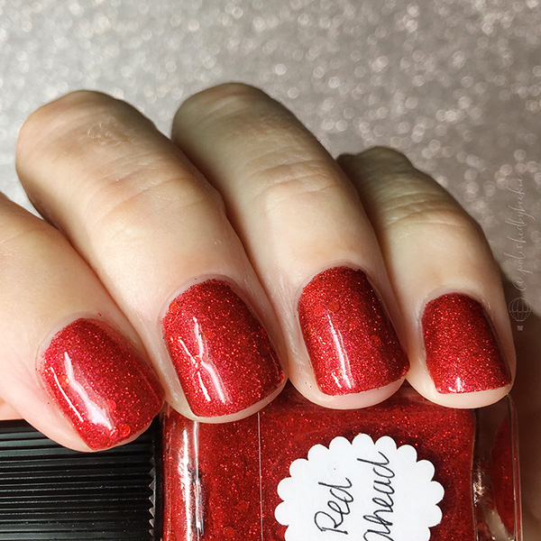 Lynnderella Nail Polish—Red Ahead—Accented Red Micro Glitter ...